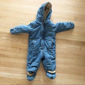 ☀️First Impressions Denim Snow Wonter Suit 12 mo